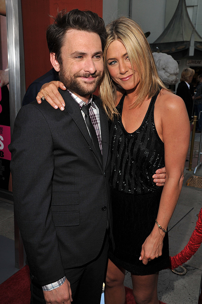 Jennifer Aniston and Charlie Day posed together.