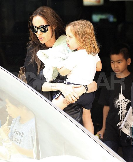 Angelina Jolie Takes the Kids Out Bowling in Malta!
