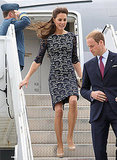 Kate arrived in a lacy dress from Erdem, a Canadian designer.