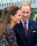 Prince William gives Kate a look of love.