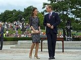The duke and duchess separate themselves from the crowd for a moment.