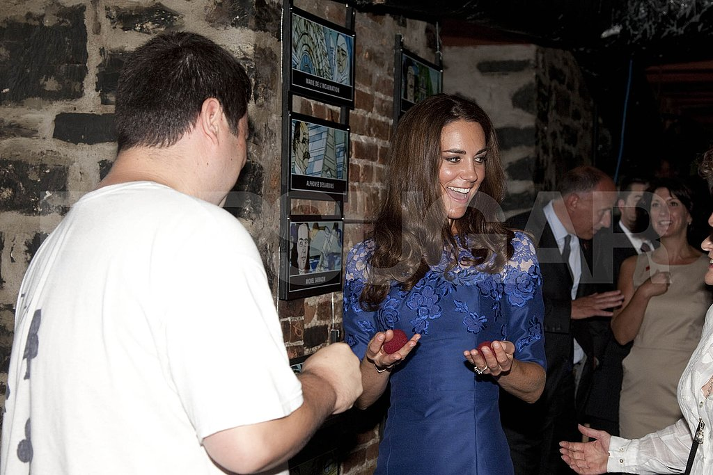 Kate Middleton plays with at-risk youth at Maison Dauphine.