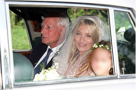 A First Glimpse of the Beautiful Bride, Kate Moss!