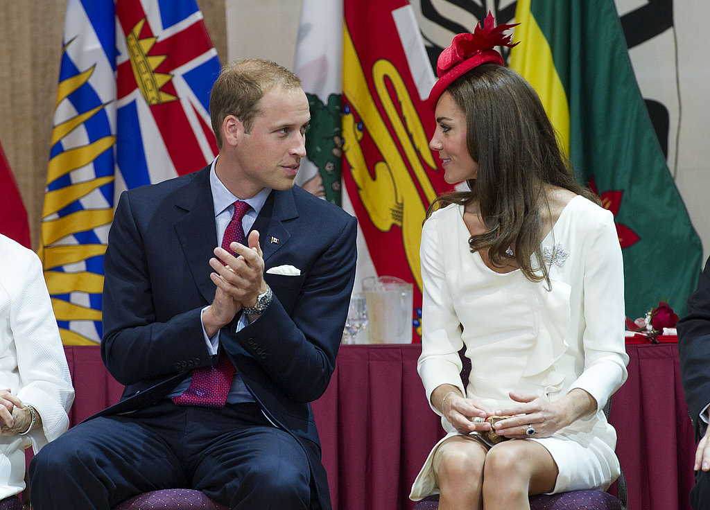 Prince William and Kate Middleton at a citizenship ceremony in Canada.
