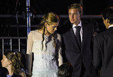 Monaco's Princess Charlotte Casiraghi joins her brother Prince Andrea Casiraghi at the concert for Princess Charlene of Monaco and Prince Albert II of Monaco.