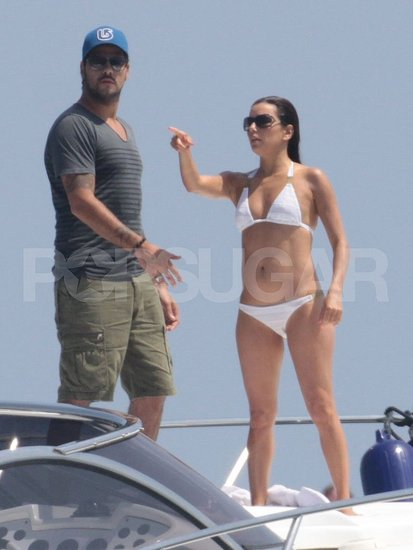 Eva Longoria Sports a Tiny White Bikini Yachting With Eduardo in Spain