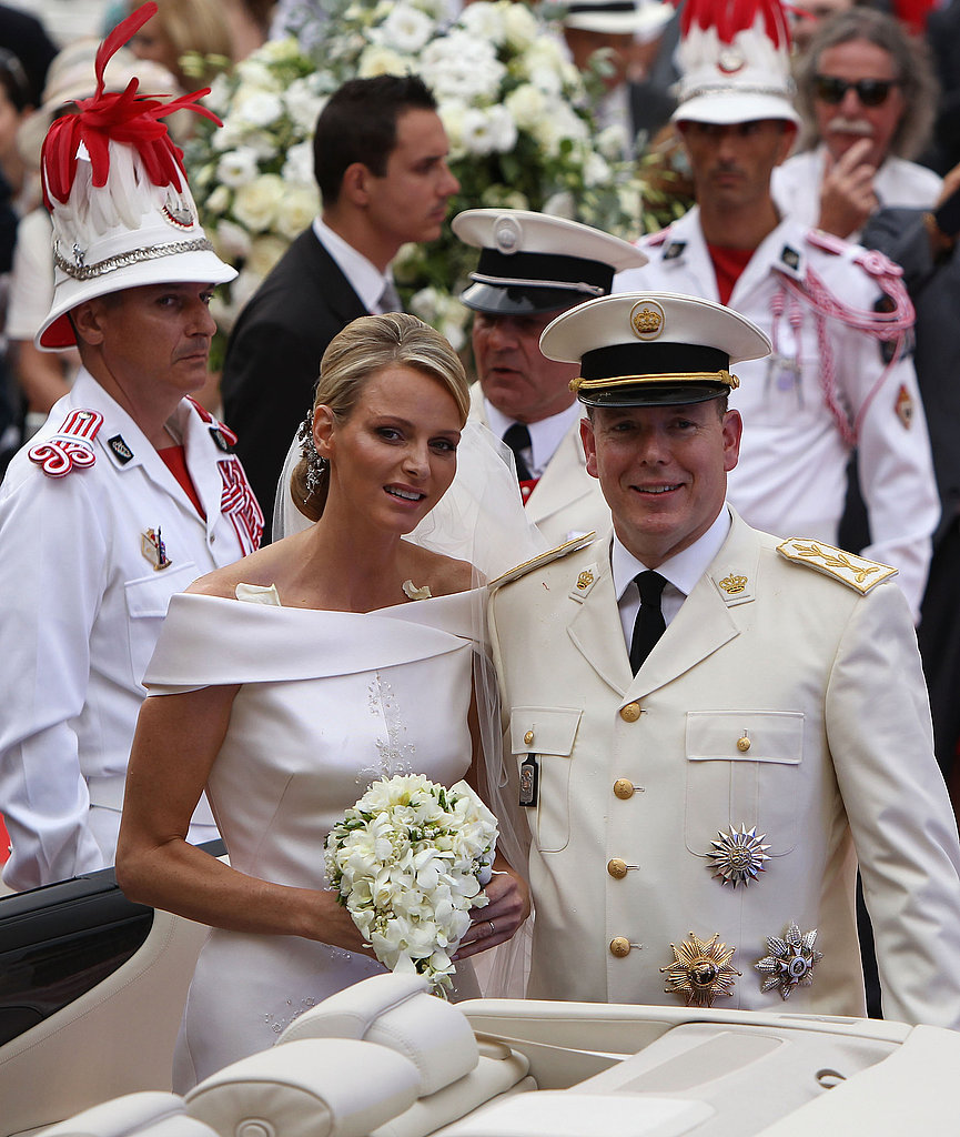 Monaco's Royal Newlyweds Take a Serene Trip Down the Aisle in Religious Ceremony