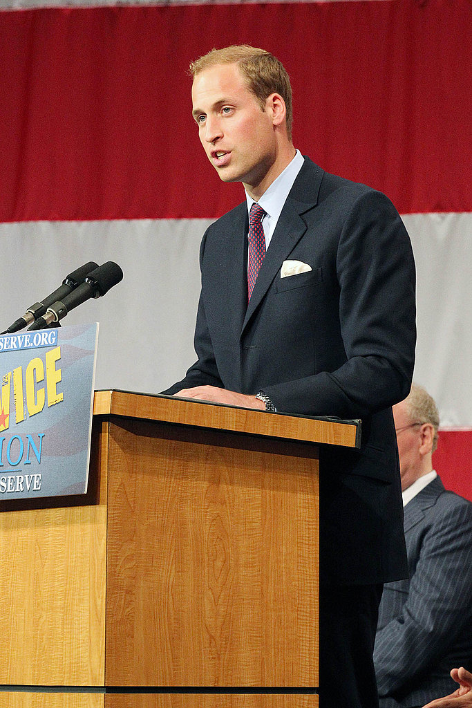 Prince William speaking at ServiceNation event in LA.