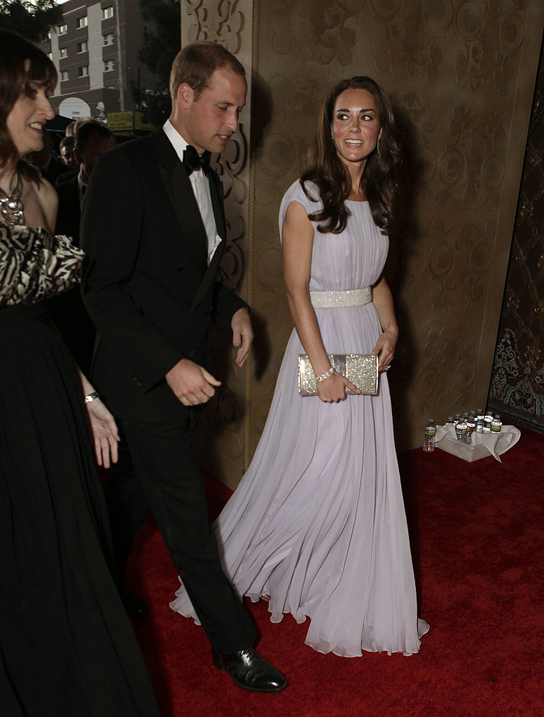 Prince William and Kate Middleton enter the BAFTA Brits to Watch event in LA.