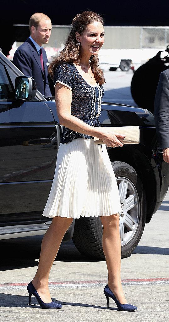 Kate Middleton leaving LA.