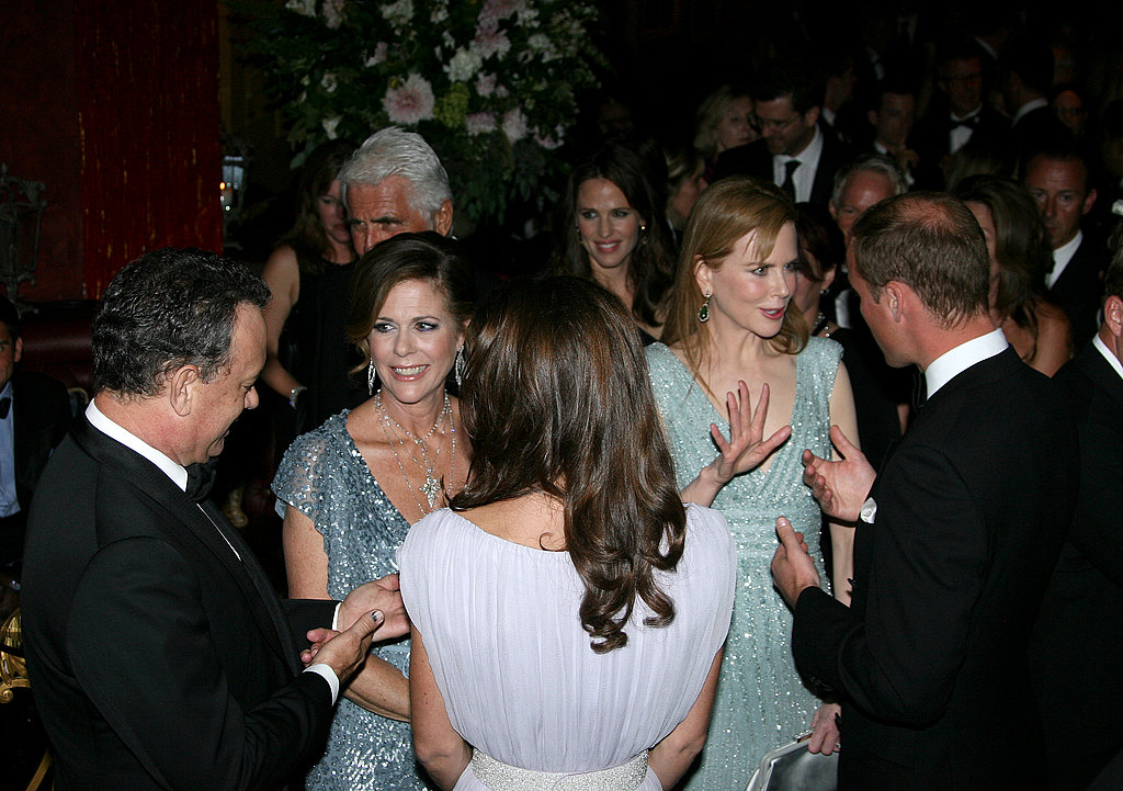 Prince William and Kate Middleton with celebrities at the BAFTA Brits to Watch event in LA.
