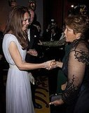 Kate Middleton with Jennifer Lopez's mom at BAFTA Brits to Watch event in LA.