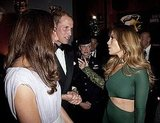 Jennifer Lopez and her mom talk to Will and Kate at the BAFTA Brits to Watch event in LA.
