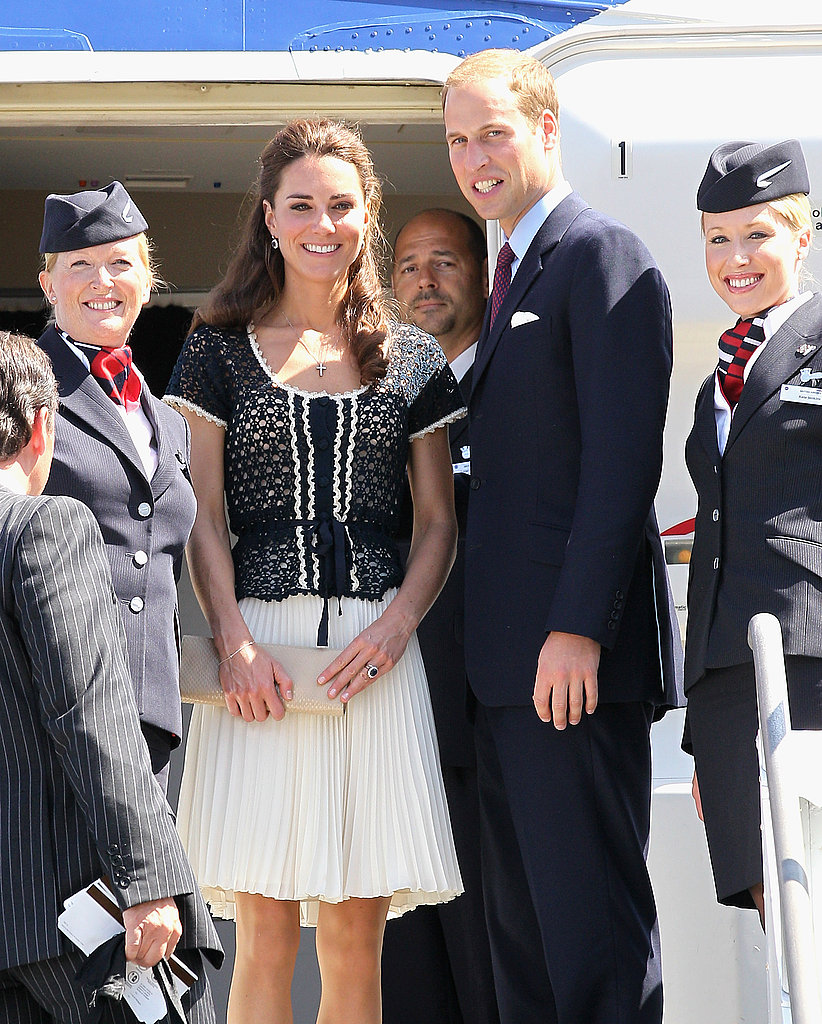 Prince William and Kate Middleton leave LA.