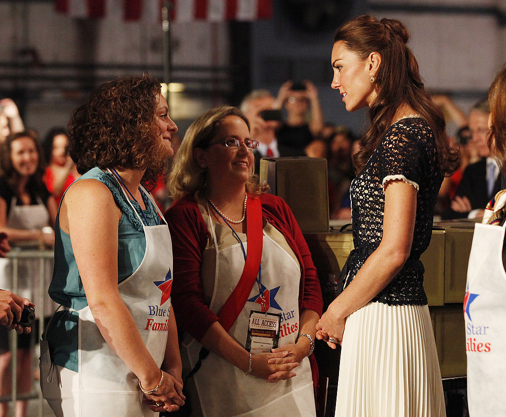Kate Middleton at a ServiceNation: Mission Serve event in LA.