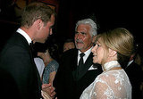 Prince William with Barbra Streisand and James Brolin at the BAFTA Brits to Watch event in LA.