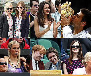 Celebrities at 2011 Wimbledon Including Kate Middleton, Prince William, Rupert Grint, Anne Hathaway and More
