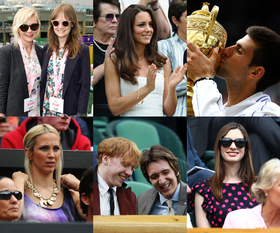 Wimbledon Wrap-Up: Hot Tennis Players and Cheering Stars