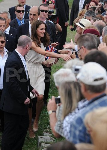 Kate Middleton was welcomed by Canadians.