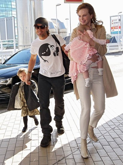 Nicole Kidman and Keith Urban Catch a Flight With Faith and Sunday