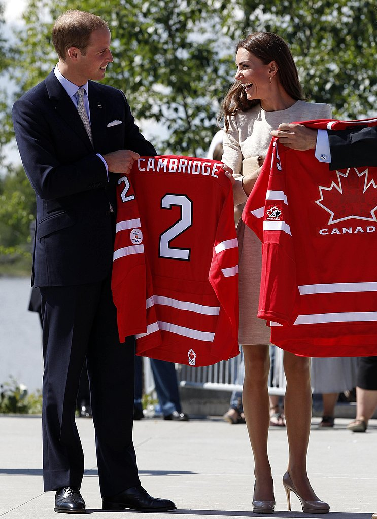 Kate Middleton and Prince William can literally wear their Canadian pride with their new jerseys.