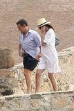 Pregnant Carla Bruni Takes a Swim With Nicolas Sarkozy Following the Monaco Royal Wedding
