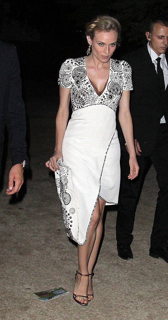 Diane Kruger wears Chanel in Paris.