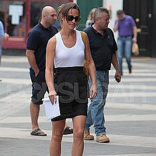 Pippa Middleton Pictures Wearing a Sleeveless Dress in London