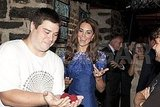 Kate Middleton watched magic tricks.