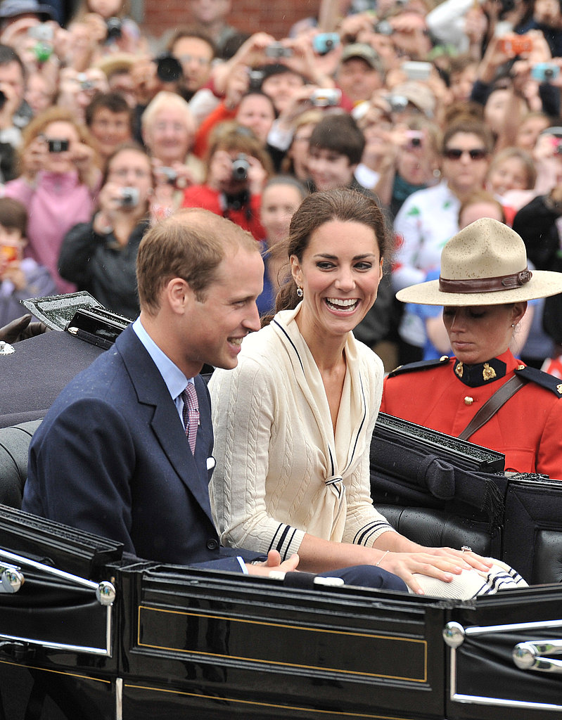 Kate Middleton and Prince William shared a laugh.