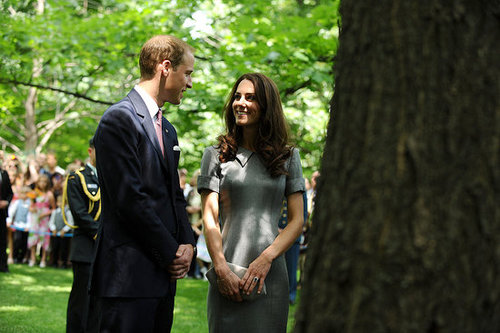 Kate Middleton and Prince William planted a tree.