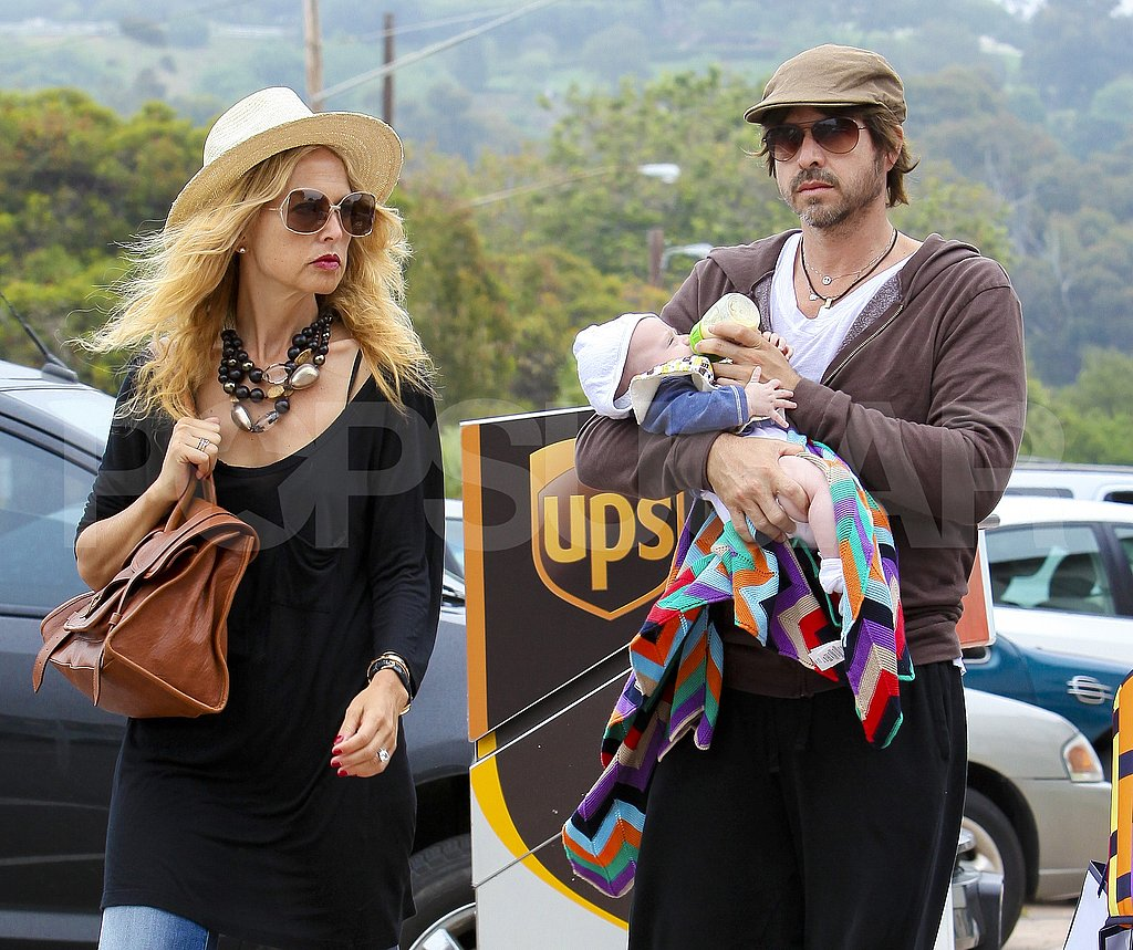 Rachel Zoe and Rodger Berman carried baby Skyler.