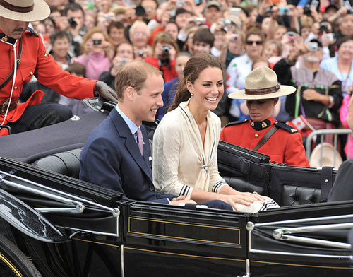 Prince William and Kate Middleton took a carriage ride on July 4.