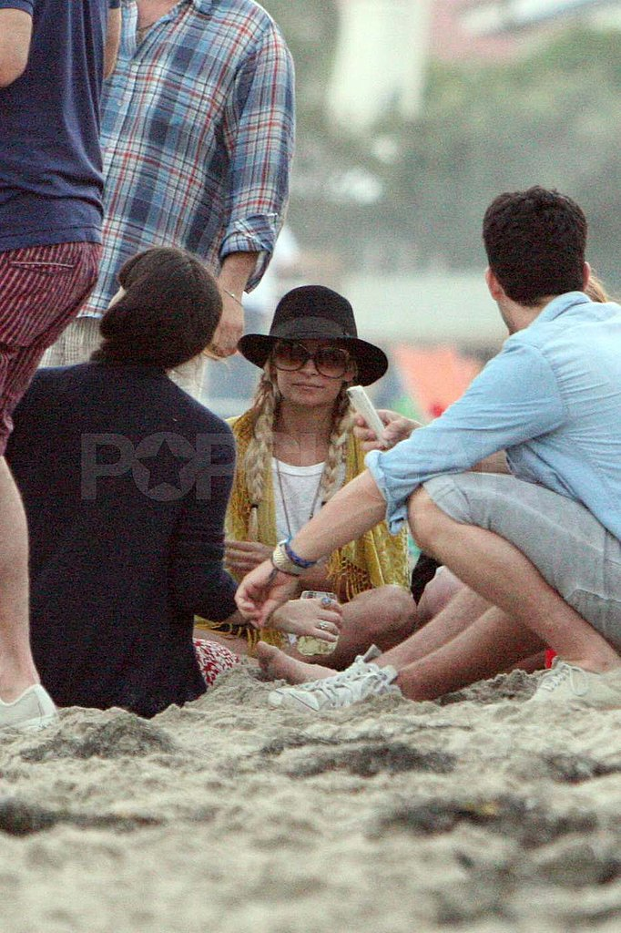 Nicole Richie on the beach in Malibu.