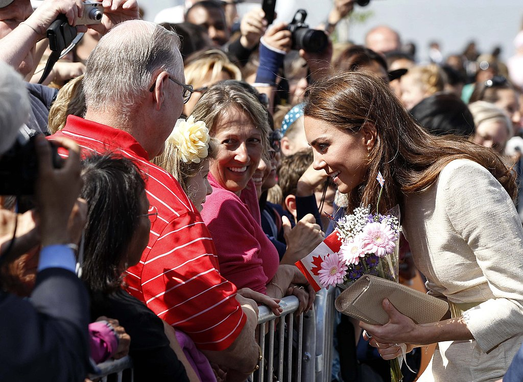 Kate Middleton talks with Yellowknife residents in Northwest Territories, Canada.