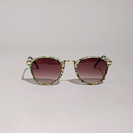 Vintage Green Floral Sunglasses, $20