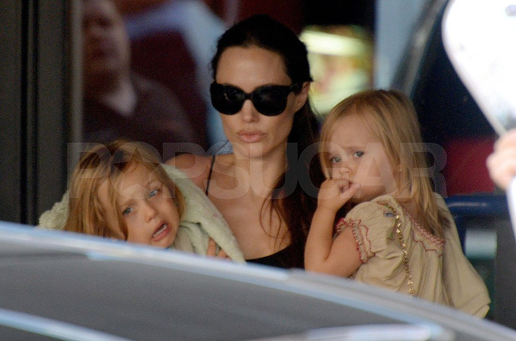 Angelina Jolie with Knox and Vivienne in Malta.