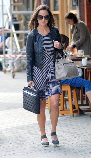 Pippa Middleton shows off her street style in London.