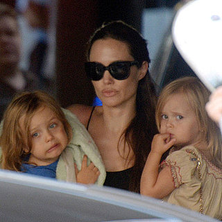 Angelina Jolie With Twins Vivienne and Knox in Malta