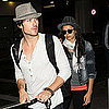 Nina Dobrev and Ian Somerhalder at LAX