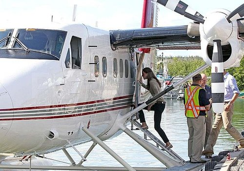 Prince William and Kate Middleton boarded a seaplane in Canada.