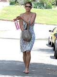 Halle Berry wore a strapless dress in LA.