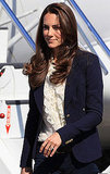 Kate Middleton in a blue blazer in Canada.