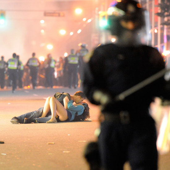 An unassuming couple made headlines when they appeared to be making out in the streets during the Vancouver riots after the city's hockey team, the Canucks, lost game seven of the Stanley Cup Finals. As it turns out, the couple had only been dating for six months.