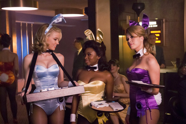 Amber Heard as Maureen, Naturi Naughton as Brenda, and Leah Renee as Alice on NBC&#039;s The Playboy Club.