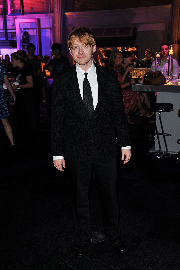 Rupert Grint flashed a smile at the bash.