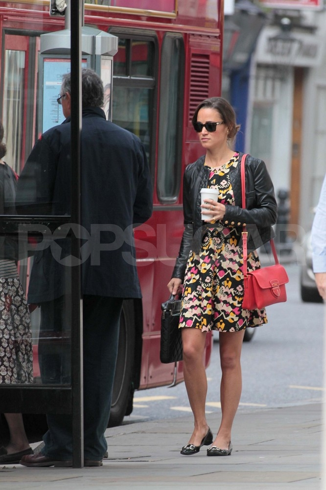 Pippa Middleton Fuels Up With Starbucks For Her Morning Bus Ride
