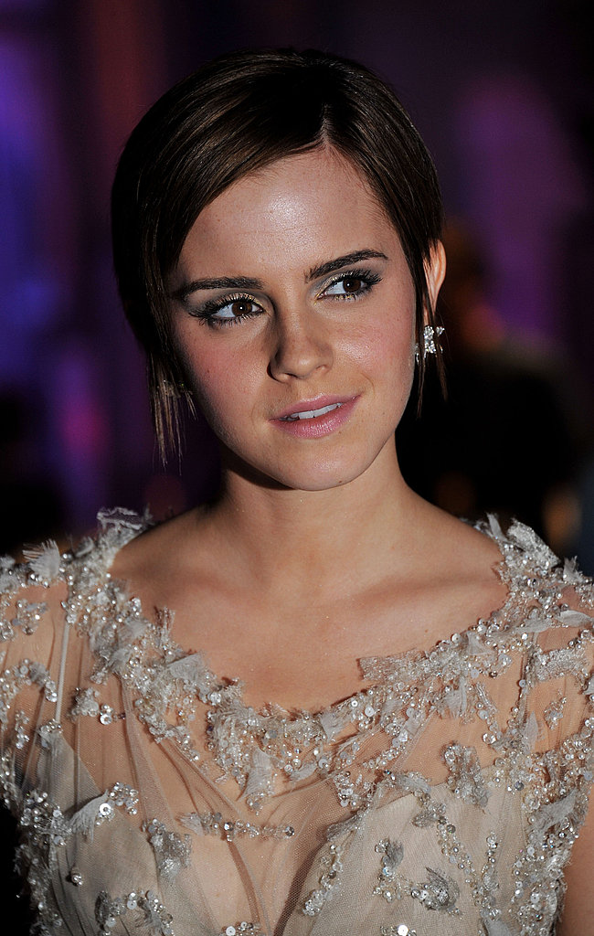 Emma Watson looked lovely in her sparkling dress.