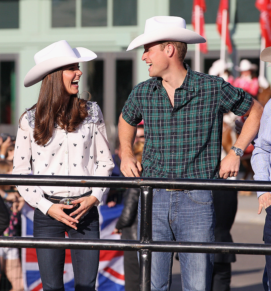 The Duke and Duchess of Cambridge shared a private laugh at the rodeo.