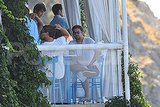 Bradley Cooper and Leonardo DiCaprio in Capri.